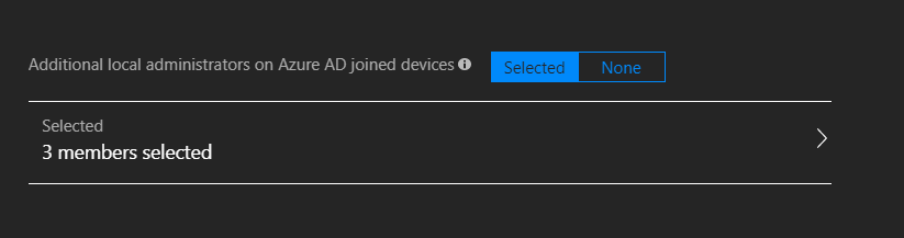 Additional local administrators on Azure AD joined devices.